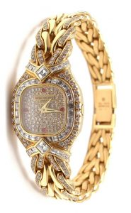 Patek Philippe Lady's Yellow Gold Diamond replica watches