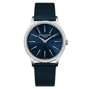 Patek Philippe replica Ladies Calatrava White Gold