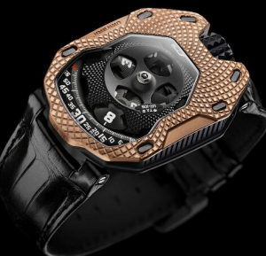 Urwerk-UR-105-Raging-Gold-fake-watch-300x289