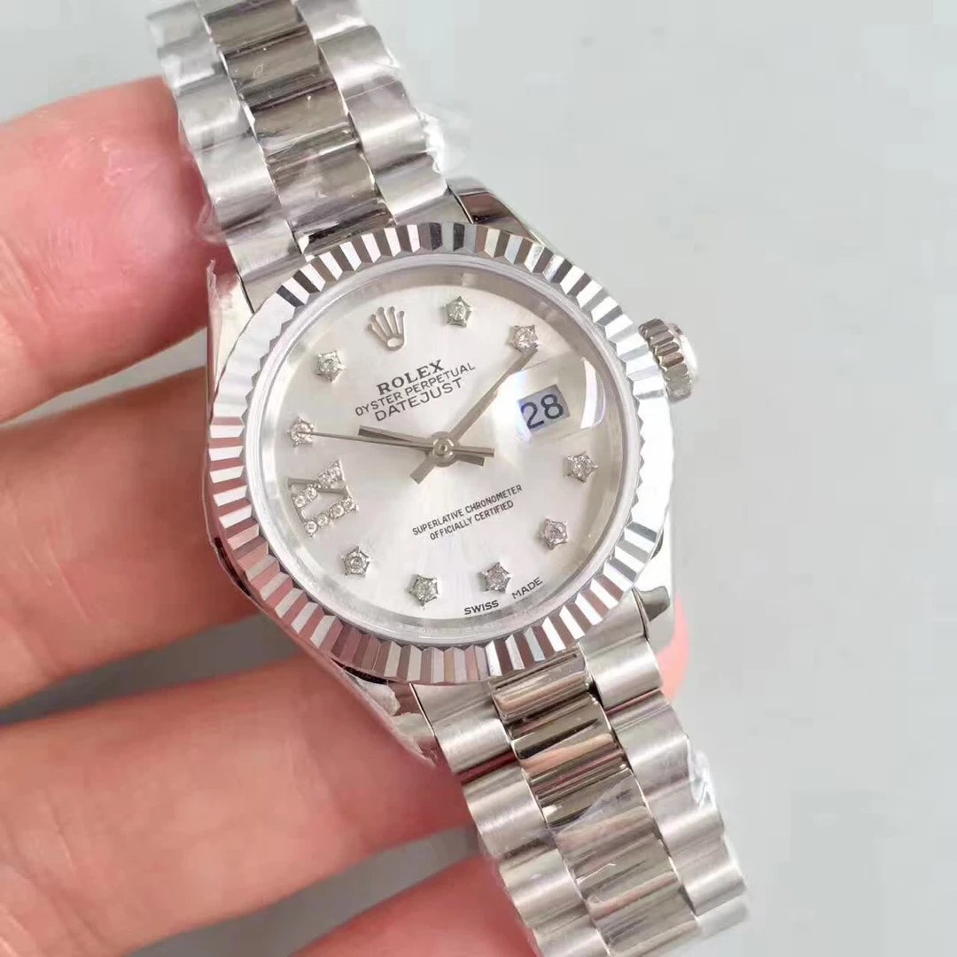 Stainless-Steel-28mm-Datejust-Rolex-with-Diamonds