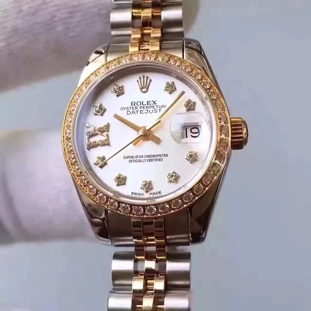 Two-Tone-33mm-Lady-Rolex-Datejust-MOP-White-Dial