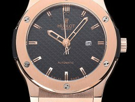 Black Dial Hublot Classic Fusion King Gold Replica Review