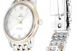 White Dial Ladies Omega Deville Prestige Replica Review