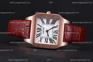 Cartier Santos 100 Polished Rose Gold Bezel 621919 Replica Review