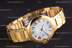 Cartier Ballon Bleu 42mm White Dial Gold Case And Bracelet Replica Review