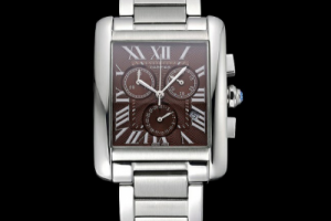 The Cartier Tank Mc Brown Stainless steel Case Replica Review