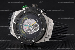 Hublot Big Bang Unico Bi-Retrograde Chrono King Stainless Steel Case Black Rubber Strap 622770 Replica Watch