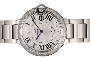 Cartier Ballon Bleu 42mm White Dial Diamonds Stainless Steel Case And Bracelet Replica