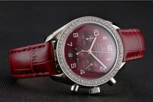 Omega Speedmaster Burgundy Dial Stainless Steel Case Replica